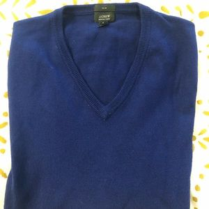 JCrew Slim Merino V-neck Sweater - M - Dark Purple